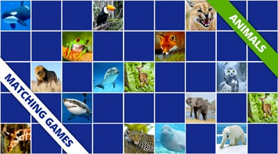 Free online memory games animals