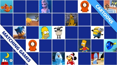 Free online memory games cartoons