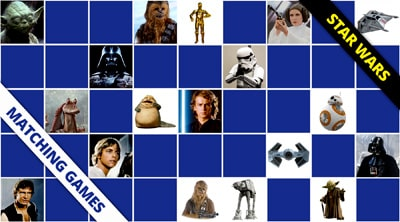 Star Wars memory games