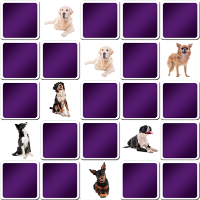 big memory game dogs