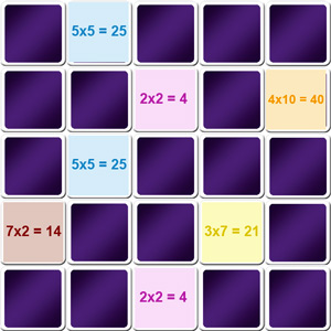 Jeux de table de multiplication