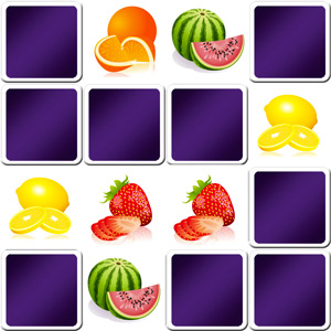 memory enfant fruits