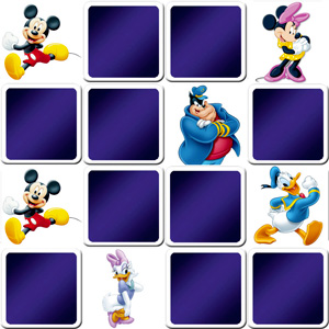 memory game Walt Disney