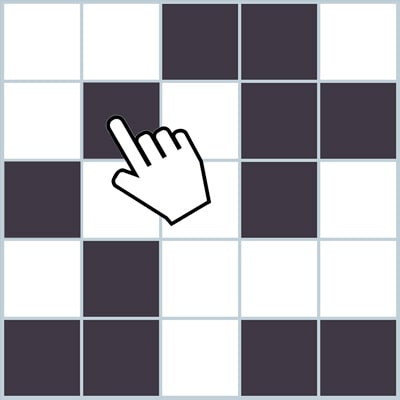 Memory game - Grid of black squares to memorize