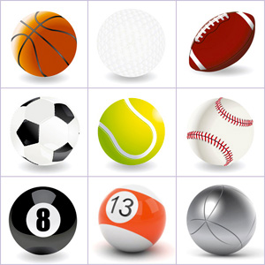 Grid of pictures to memorize - balls