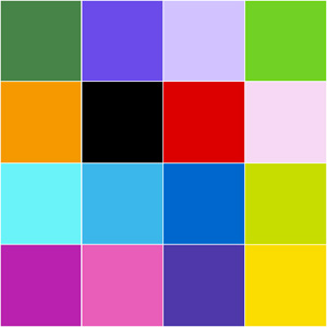 Grid of colored squares to memorize