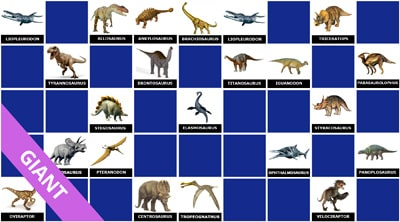 Learning game dinosaurs names