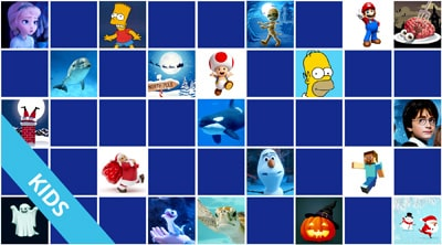 Online and Free memory games for kids 4 years old