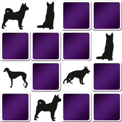 Memory game blacks dogs