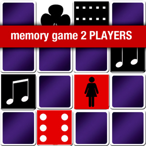 memory game 2 players - black and red