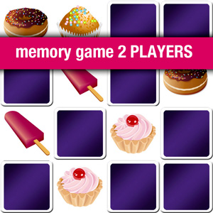 memory game 2 players - cakes