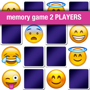memory game 2 players - emoji