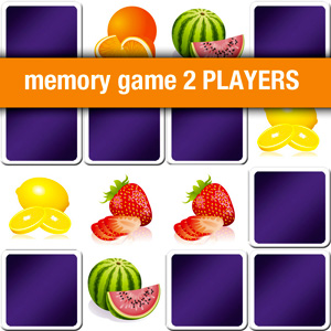 memory game 2 players - fruits and vegetables