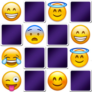 Emoji memory game for adults