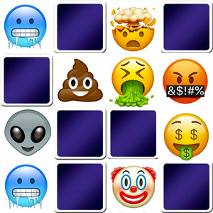 Funny Emoji memory game for adults