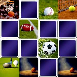 memory game for adults - beautiful sport pictures