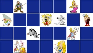 Memory game Asterix and Obelix