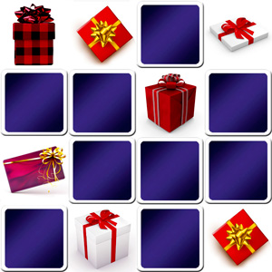 Online memory game for seniors - Christmas presents