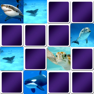 Marine animals memory game for seniors