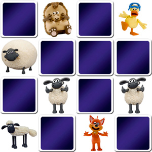 memory game for toddlers Shaun the sheep