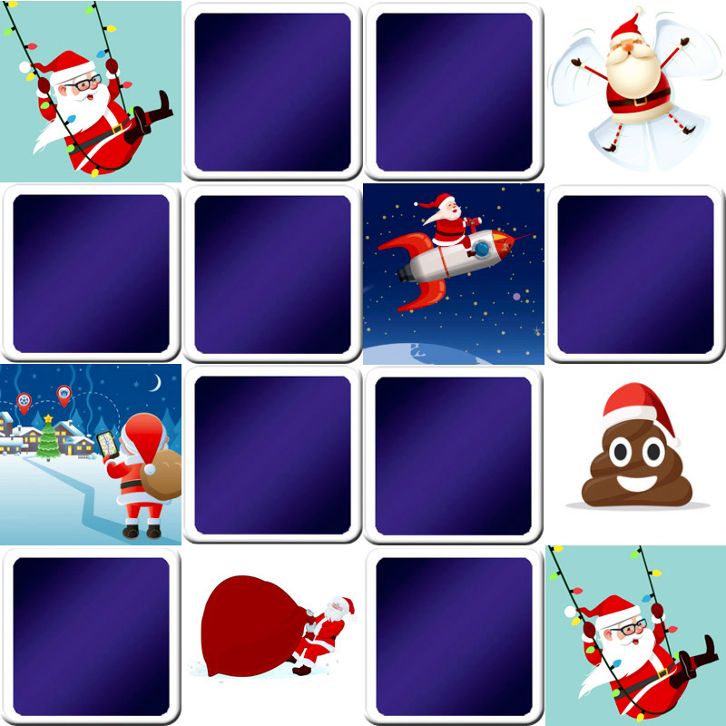 memory game for kids - Funny Christmas pictures - online and free