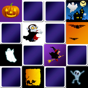 memory game halloween for kids