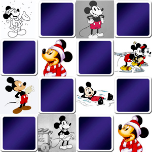 memory game disney and mickey mouse