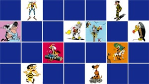 memory game Lucky Luke