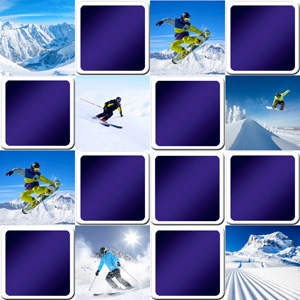 memory game ski and snowboard