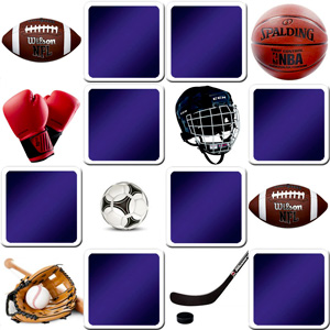 memory game for adults - Sports objects - online and free