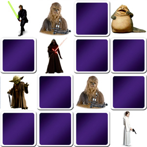 memory game characters from Star Wars