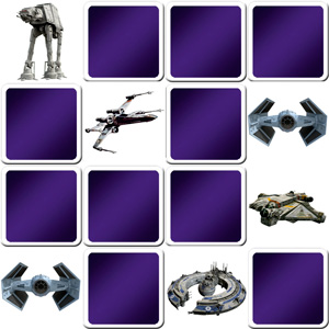 memory game Star Wars vehicles