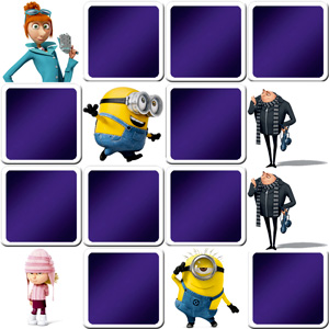 memory game The minions characters