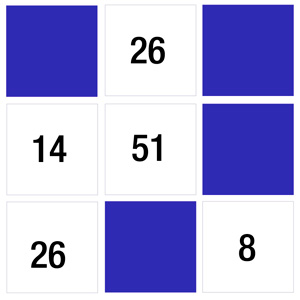 Numbers memory game - memory match game