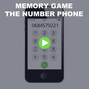 Game of the phone number to memorize