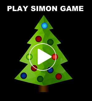 Simon game with a christmas tree
