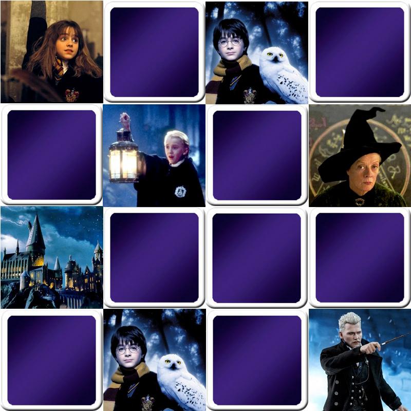 Jeu De Memory Enfant Harry Potter En Ligne Et Gratuit