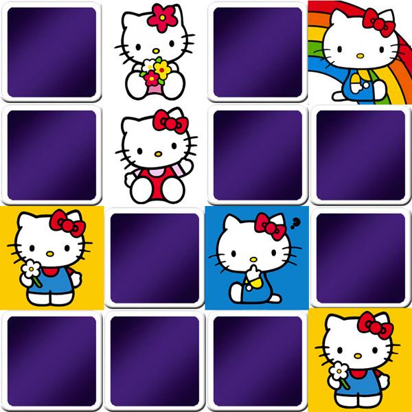 Jeu de memory enfant - Hello Kitty - en ligne et gratuit