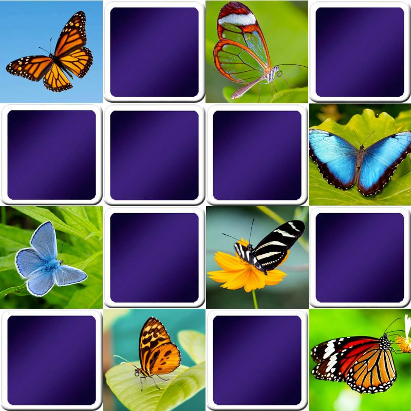 Jeu de memory papillons - Jeux memoire a imprimer ...