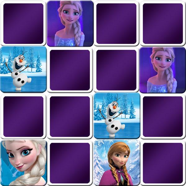 Memory jeu reine des neiges - Jeux reine des neige en ligne ...