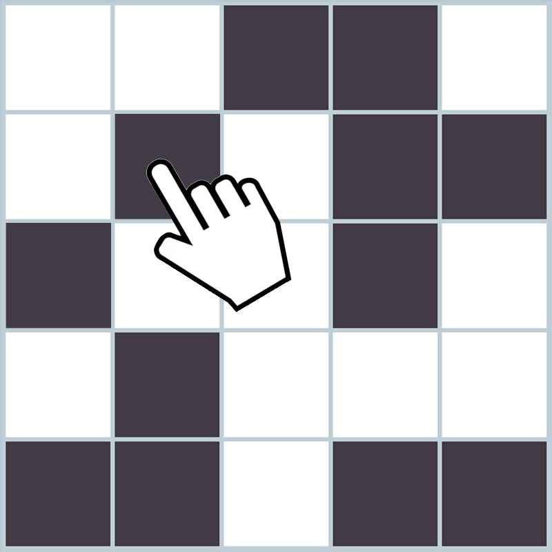 Online Memory Game Grid Of Black Squares