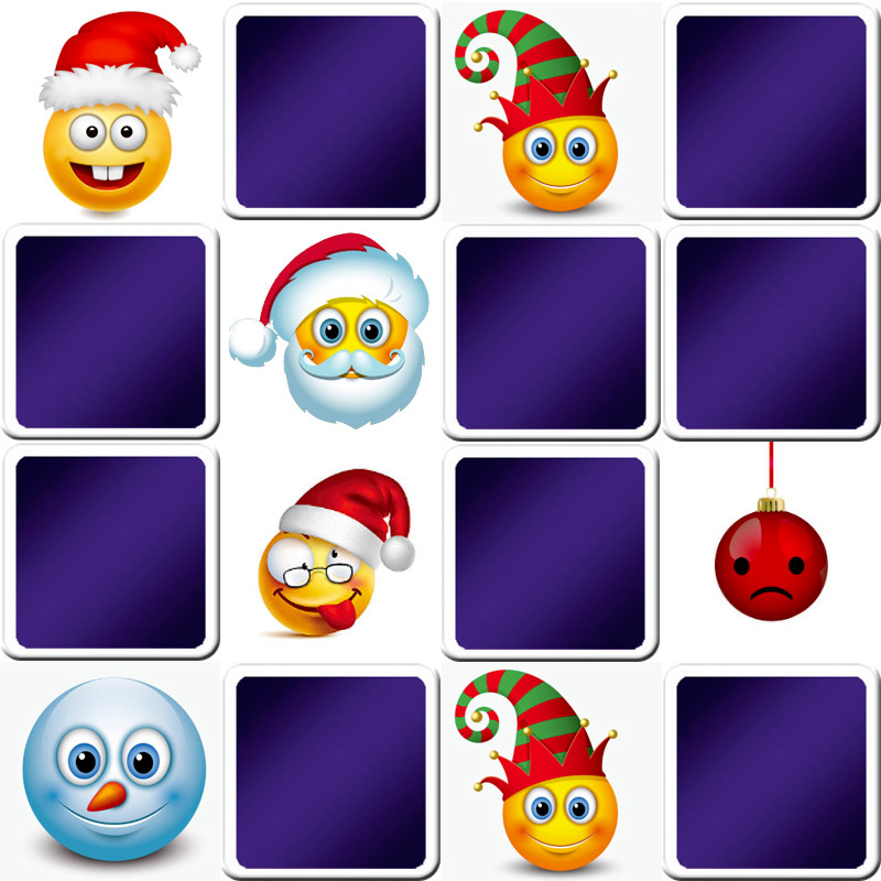 Play memory game for adults - Christmas