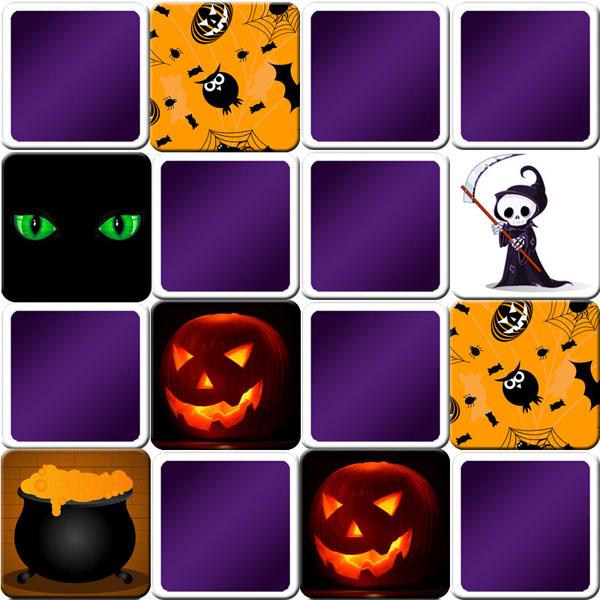 Memory Game Halloween And Pumpkin