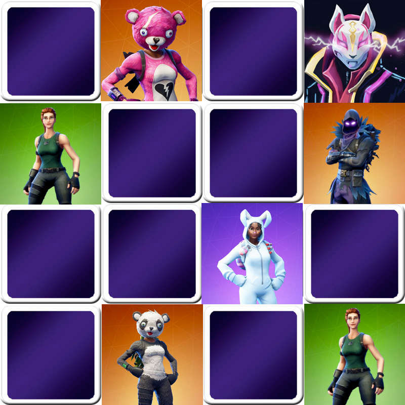 Play Memory Game For Kids Fornite Video Game Online And