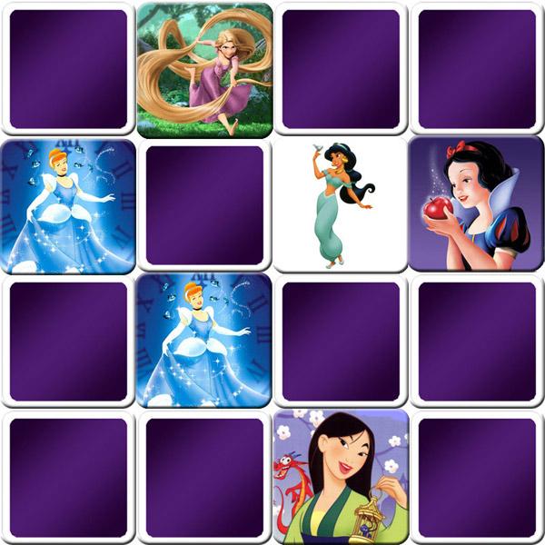 princess disney memory game