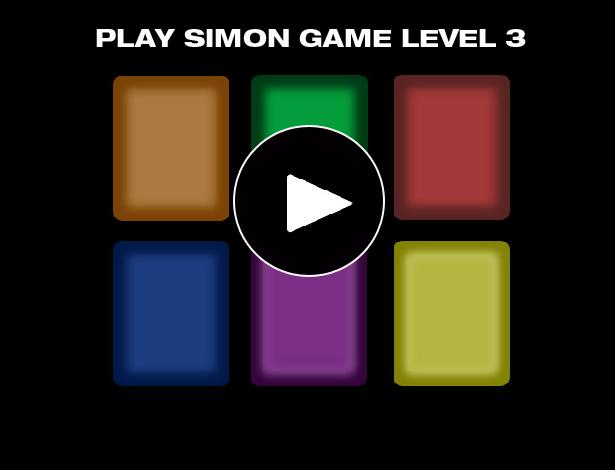 Simon game online level 3